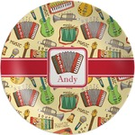 Vintage Musical Instruments Melamine Plate (Personalized)