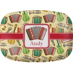 Vintage Musical Instruments Melamine Platter (Personalized)