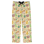 Vintage Musical Instruments Mens Pajama Pants (Personalized)