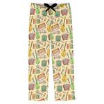 Vintage Musical Instruments Mens Pajama Pants (Personalized)