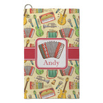 Vintage Musical Instruments Microfiber Golf Towel - Small (Personalized)