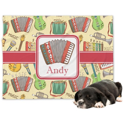 Vintage Musical Instruments Dog Blanket (Personalized)