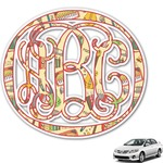 Vintage Musical Instruments Monogram Car Decal (Personalized)