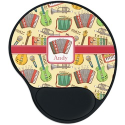 Vintage Musical Instruments Mouse Pad with Wrist Support