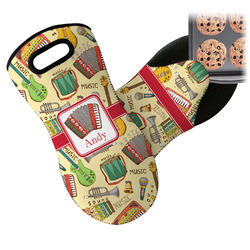 Vintage Musical Instruments Neoprene Oven Mitt (Personalized)