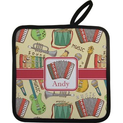Vintage Musical Instruments Pot Holder (Personalized)