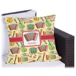 Vintage Musical Instruments Outdoor Pillow (Personalized)