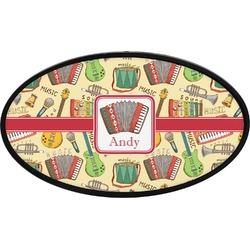 Vintage Musical Instruments Oval Trailer Hitch Cover (Personalized)