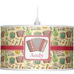 Vintage Musical Instruments Drum Pendant Lamp (Personalized)