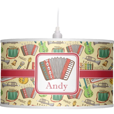 Vintage Musical Instruments Drum Pendant Lamp (Personalized)