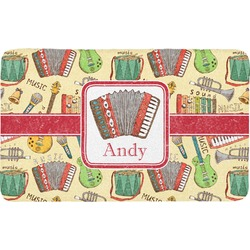Vintage Musical Instruments Bath Mat (Personalized)