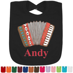 Vintage Musical Instruments Baby Bib - 14 Bib Colors (Personalized)