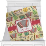Vintage Musical Instruments Minky Blanket (Personalized)