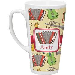 Vintage Musical Instruments 16 Oz Latte Mug (Personalized)