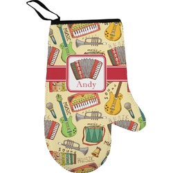 Vintage Musical Instruments Oven Mitt (Personalized)