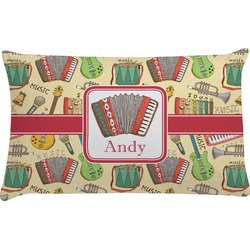 Vintage Musical Instruments Pillow Case (Personalized)