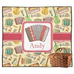 Vintage Musical Instruments Outdoor Picnic Blanket (Personalized)