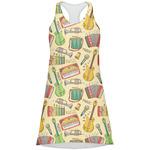 Vintage Musical Instruments Racerback Dress (Personalized)