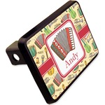 """Vintage Musical Instruments Rectangular Trailer Hitch Cover - 2"""" (Personalized)"""