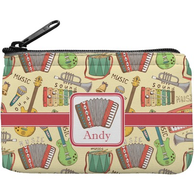 Vintage Musical Instruments Rectangular Coin Purse (Personalized)