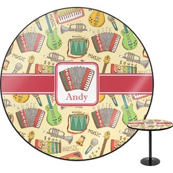 Vintage Musical Instruments Round Table (Personalized)