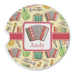Vintage Musical Instruments Sandstone Car Coasters (Personalized)