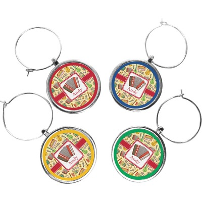 Vintage Musical Instruments Wine Charms (Set of 4) (Personalized)