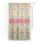 Vintage Musical Instruments Sheer Curtains (Personalized)