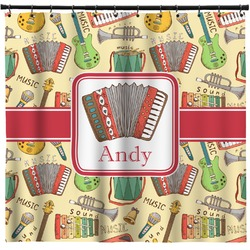 Vintage Musical Instruments Shower Curtain (Personalized)