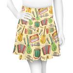 Vintage Musical Instruments Skater Skirt (Personalized)