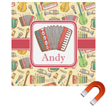 Vintage Musical Instruments Square Car Magnet (Personalized)