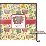Vintage Musical Instruments Square Table Top (Personalized)