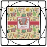 Vintage Musical Instruments Square Trivet (Personalized)