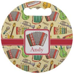Vintage Musical Instruments Stadium Cushion (Round) (Personalized)
