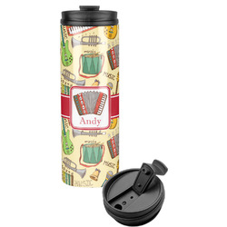 Vintage Musical Instruments Stainless Steel Travel Tumbler (Personalized)