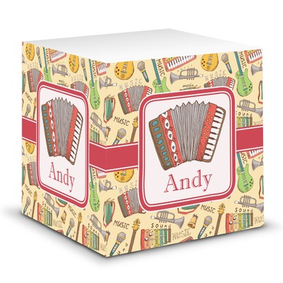 Vintage Musical Instruments Sticky Note Cube (Personalized)