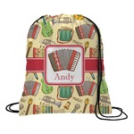 Vintage Musical Instruments Drawstring Backpack (Personalized)