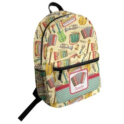 Vintage Musical Instruments Student Backpack (Personalized)