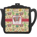 Vintage Musical Instruments Teapot Trivet (Personalized)