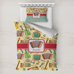 Vintage Musical Instruments Toddler Bedding w/ Name or Text