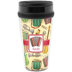 Vintage Musical Instruments Travel Mug (Personalized)