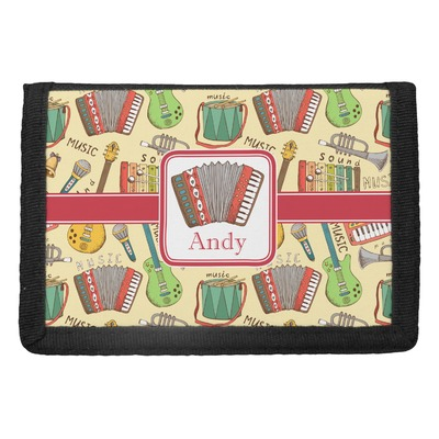 Vintage Musical Instruments Trifold Wallet (Personalized)