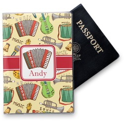 Vintage Musical Instruments Vinyl Passport Holder (Personalized)