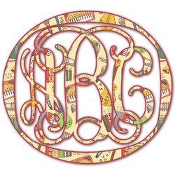 Vintage Musical Instruments Monogram Decal - Custom Sizes (Personalized)