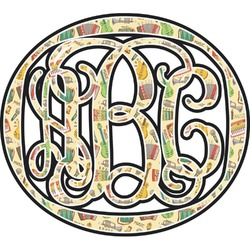 Vintage Musical Instruments Monogram Decal - Custom Sized (Personalized)