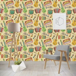 Vintage Musical Instruments Wallpaper & Surface Covering