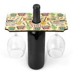 Vintage Musical Instruments Wine Bottle & Glass Holder (Personalized)