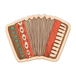 Vintage Musical Instruments Genuine Maple or Cherry Wood Sticker (Personalized)