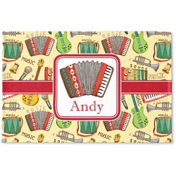 Vintage Musical Instruments Woven Mat (Personalized)
