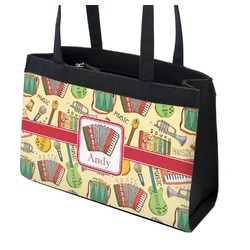 Vintage Musical Instruments Zippered Everyday Tote (Personalized)
